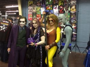 Joker and a friend pose with the Thundercats.